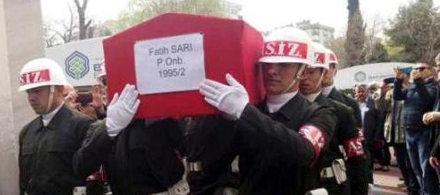 Bahçelievlerliler şehit Er Fatih Sarı'yı törenle uğurladı