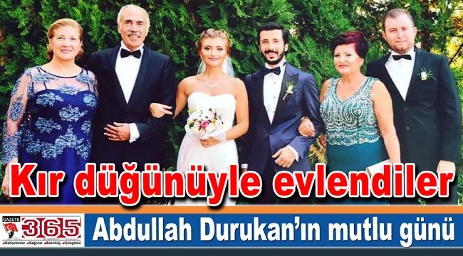 Abdullah Durukan'ın oğlu Emre Durukan dünya evine girdi
