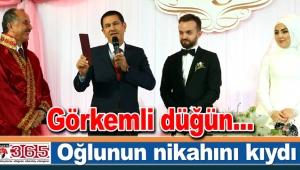 Başkan Çağırıcı'nın oğlu dünya evine girdi