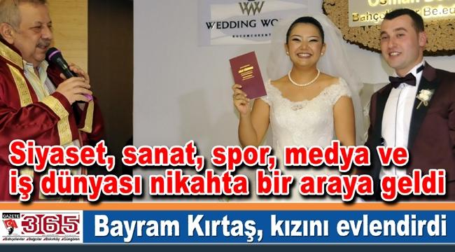 Gazeteci Bayram Kırtaş'ın kızı evlendi