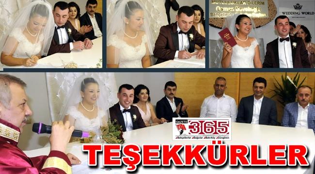 Bayram Kırtaş'tan teşekkür mesajı...