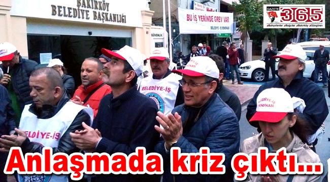 Bakırköy Belediyesi işçileri greve devam kararı aldı