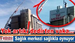 Bakırköy Tıp Merkezi'nde baz istasyonu skandalı…