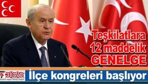 MHP lideri Bahçeli'den ilçe teşkilatlarına kongre genelgesi…