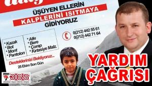 Selami Aykut; Üşüyen ellerin kalplerini ısıtmak için destek bekliyoruz