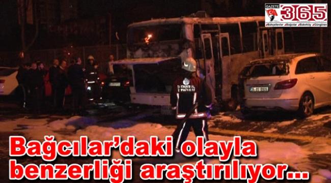 Bakırköy'de park halinde bulunan 3 araç yandı