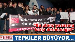CHP'li gençlerden 'Cinsel İstismar' konusundaki yasa düzenlemesine tepki…