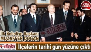 İlk Belediye Başkanı Muzaffer Doğan makamına böyle geldi...