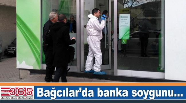 Bağcılar'da banka soygunu: Binlerce lirayla kaçtılar...