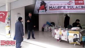 """""""Bahçelievler'den Halep'e yol açın"""" kampanyası"""