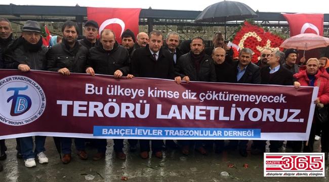 Bahçelievler Trabzonlular Derneği Şehitler Tepesi'nde dualar okudu