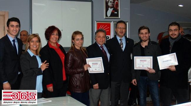 TSM Cumhuriyet Korosu emekçilerine teşekkür belgesi…