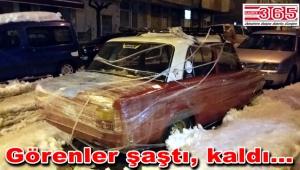 Güngörenli vatandaş arabasını böyle koruma altına aldı