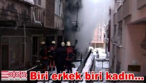Bahçelievler'de bir evde yangınçıktı: 2 kişi öldü