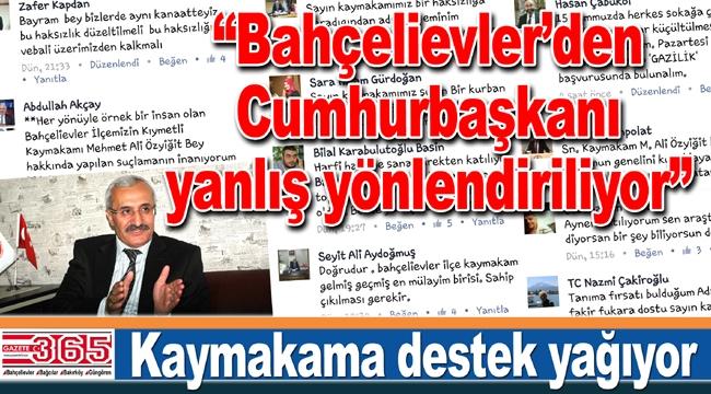 Bahçelievler Kaymakamı Mehmet Ali Özyiğit'e destek yağıyor…
