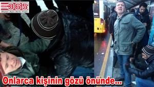 Yenibosna metrobüs durağında bıçaklı saldırı