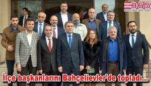 AK Parti İl Başkanı Selim Temurci, ilçe başkanlarıyla görüştü