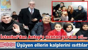 İMDD yardım kampanyası için gittiği Gaziantep'ten döndü