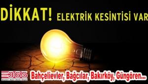 4 ilçede 3 gün elektrik kesintileri yaşanacak