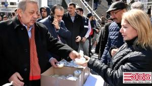 Bahçelievler'de Çanakkale kahramanlarının içtiği çorba dağıtıldı