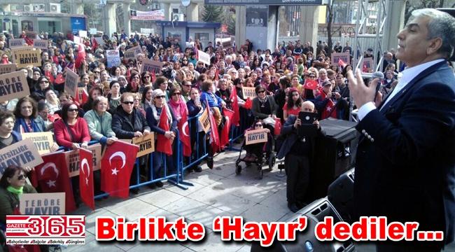 CHP İl Başkanı Canpolat, Bakırköy'de kadınlarla buluştu