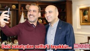 Haluk Levent İzmir Marşı için Başkan Kerimoğlu'na teşekkür etti