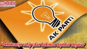 AK Parti Bakırköy İlçe Başkanlığı'ndan referandum değerlendirmesi…
