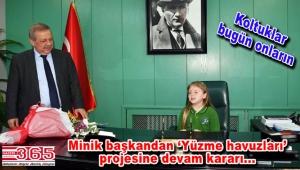 Bahçelievler Belediyesi'nin minik Başkanı Melek Rüya Doğar oldu