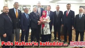 İstanbul muhtarları İl Emniyet Müdürü Çalışkan'ı ziyaret etti