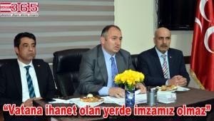 MHP İl Başkanı Bülent Karataş, Bahçelievler'de referandumu konuştu