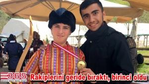 Bağcılarlı okçu Mustafa Sayan'dan tam isabet…