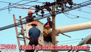 Bahçelievler, Bağcılar, Bakırköy ve Güngören'de 3 gün elektrik kesintileri…