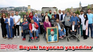 Bağcılarlı engellilerden 'Payitaht Abdülhamid' dizi setine ziyaret…