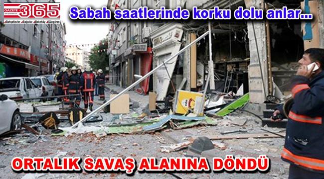 Bakırköy'de doğalgaz patlaması meydana geldi