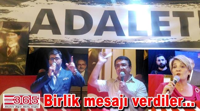 CHP'lilerden birlik, beraberlik ve dayanışma çağrısı...