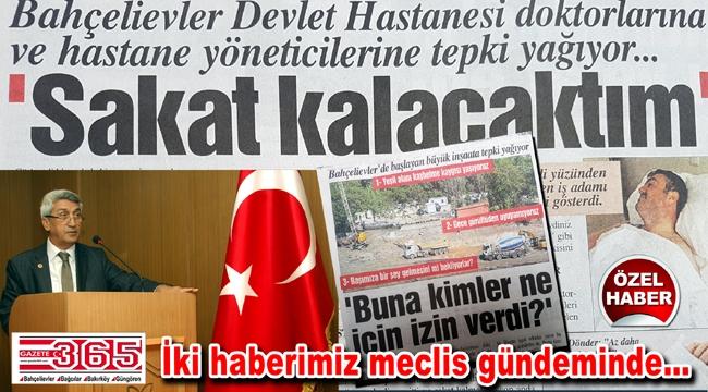 Hasan Tapan Gazete365'in iki haberini daha meclise taşıdı
