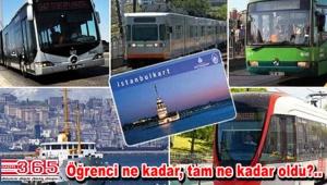 İstanbul'da toplu ulaşıma zam geldi!..
