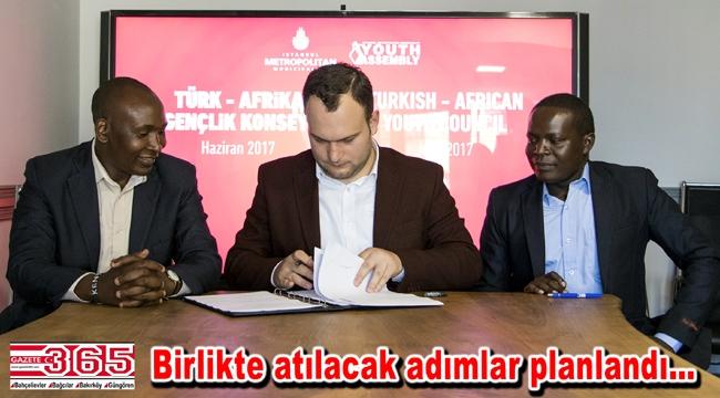 Türk- Afrika Gençlik Konseyi için imzalar atıldı