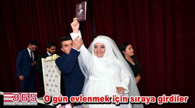 Bağcılar Evlendirme Dairesi'nde 07.07.2017 çılgınlığı…