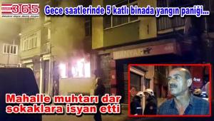 Bakırköy'de gece saatlerinde yangın çıktı: 3 yaralı…