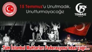 """TÜMFED Genel Başkanı Aykut: """"Tüm muhtarlarımızı anma programına bekliyoruz"""""""