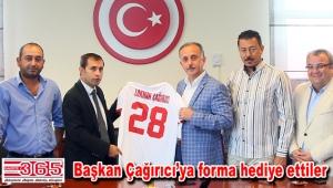 Bağcılar Güneşlispor Başkan Çağırıcı'yı ziyaret etti
