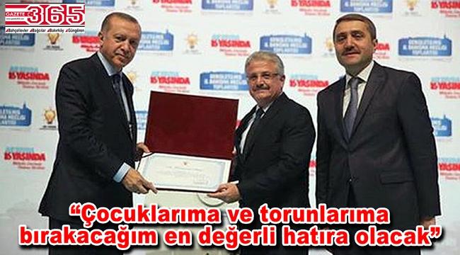 Cumhurbaşkanı Erdoğan'dan Ercüment Sever'e teşekkür…