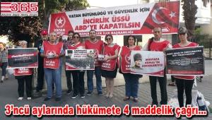 """Vatan Partisi Bahçelievler """"İncirlik Üssü"""" eylemini sürdürüyor"""