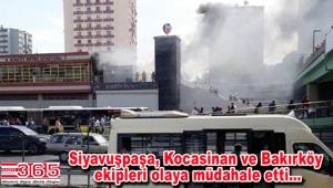 Ataköy-Şirinevler metro istasyonunda yangın çıktı