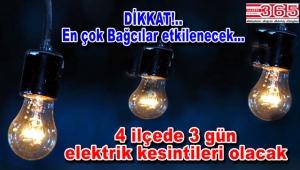 Bahçelievler, Bağcılar, Bakırköy ve Güngören'de elektrik kesintileri…