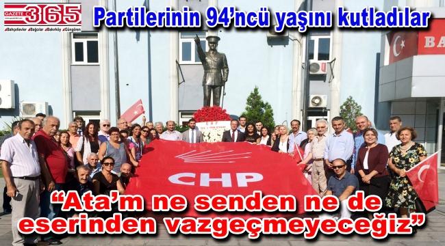 CHP Bahçelievler, kuruluş yıldönümünü coşkuyla kutladı