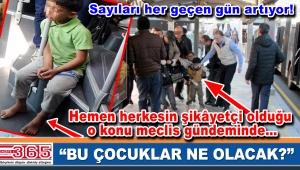 CHP'li meclis üyeleri dilenen çocukları İBB meclisine taşıdı