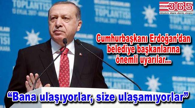 Cumhurbaşkanı Erdoğan belediye başkanlarıyla buluştu