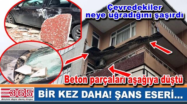 Bahçelievler'de bir binanın balkonu çöktü